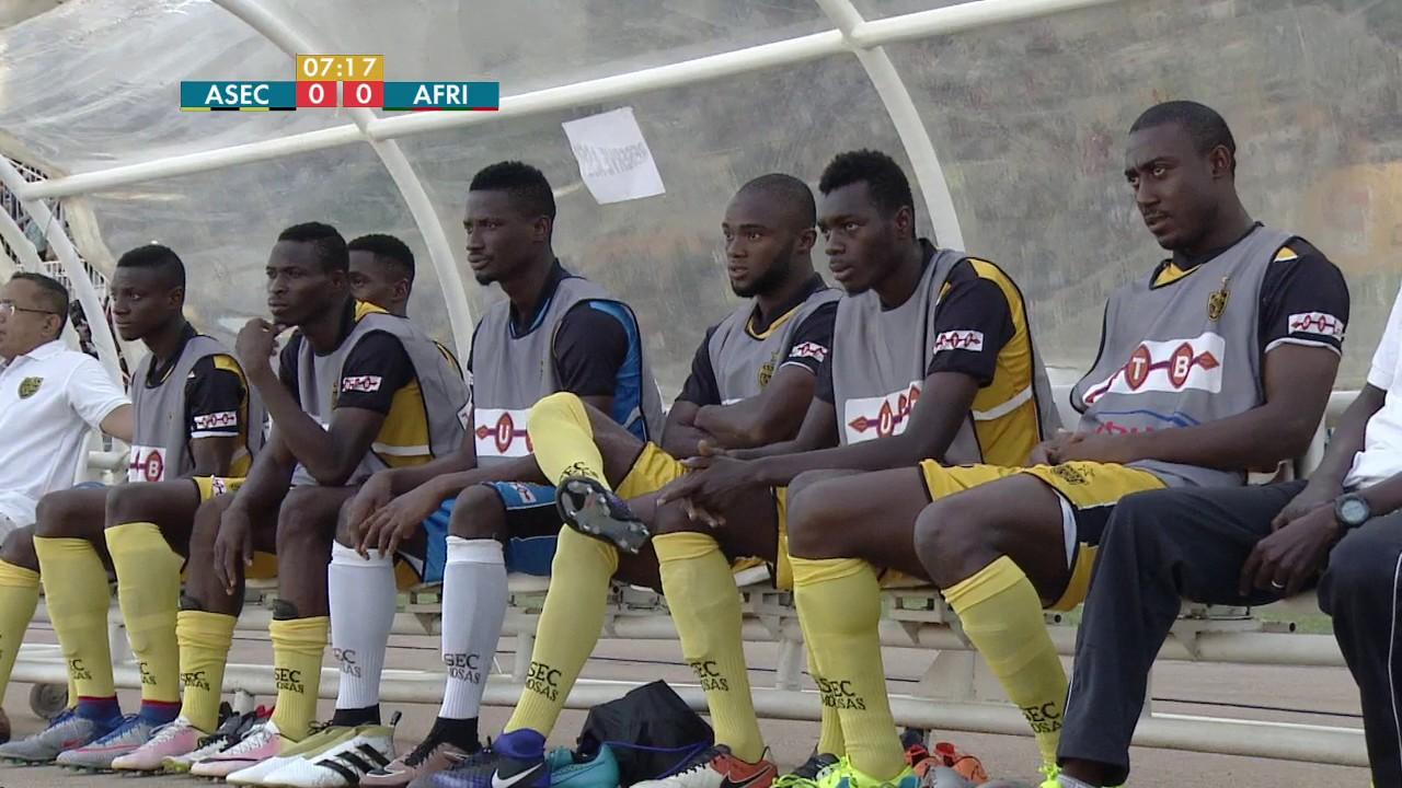 J-22 Ligue 1  ASEC Mimosas - Africa Sports 1ère mi-temps