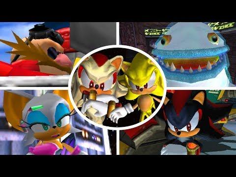 Sonic Adventure 2 - All Bosses (No Damage)