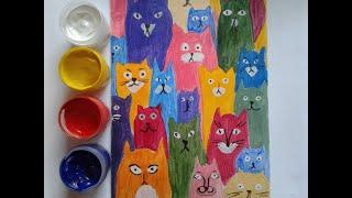 Питерские коты Простое рисование для детей и взрослых