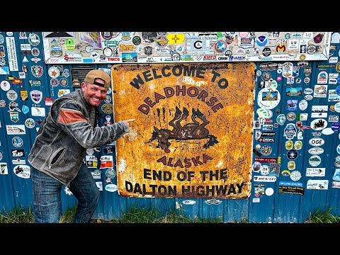 DEADHORSE ALASKA ON HARLEY DAVIDSONS - EASY !