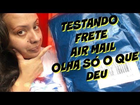 TESTEI O FRETE AIR MAIL E OLHA SÓ NO QUE DEU