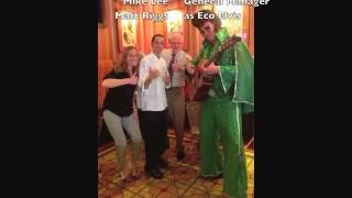 Eco Elvis Visits Trezo Maré Restaurant in Honor of Earth Day