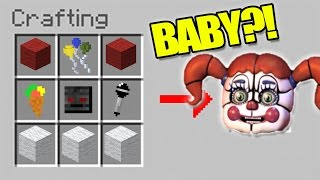 HOW TO SUMMON FNAF - MINECRAFT CRAFTING SPOOKY CIRCUS BABY