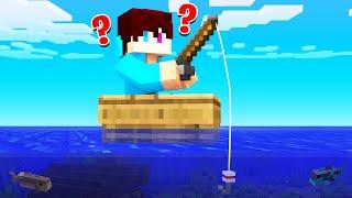 Ik Ging VISSEN En Ving DIT..! (Minecraft Raft)