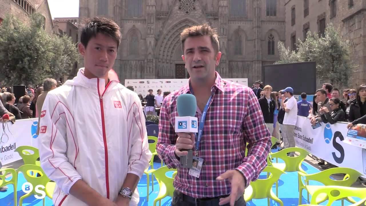 Entrevista con kei nishikori en el barcelona open banc - Oficinas banc sabadell barcelona ...