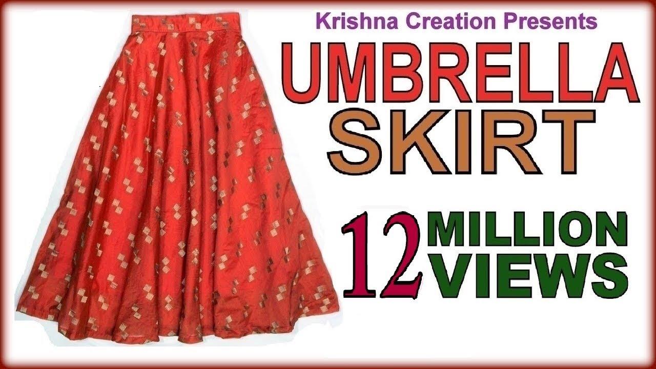 Download Umbrella Skirt ,अम्ब्रेला स्कर्ट ,  Drafting, Cutting & Stitching  in Hindi By Krishna Creation