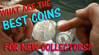 The Top Silver Bullion coins to buy for new collectors and stackers.