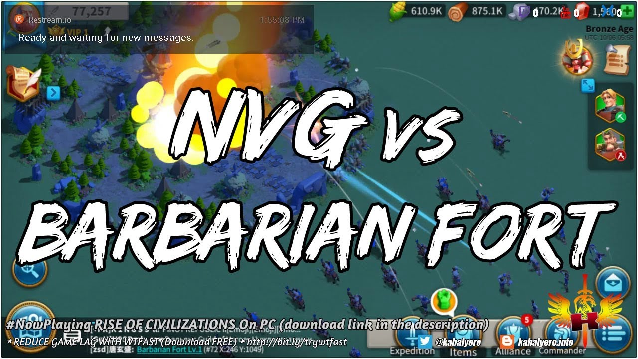 Video - NowPlaying RISE OF CIVILIZATIONS On PC • NVG vs Barbarian