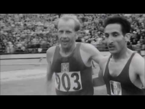 EMIL ZATOPEK   HELSINKI 1952 gold medals 5.000 m, 10.000 m, Maraton