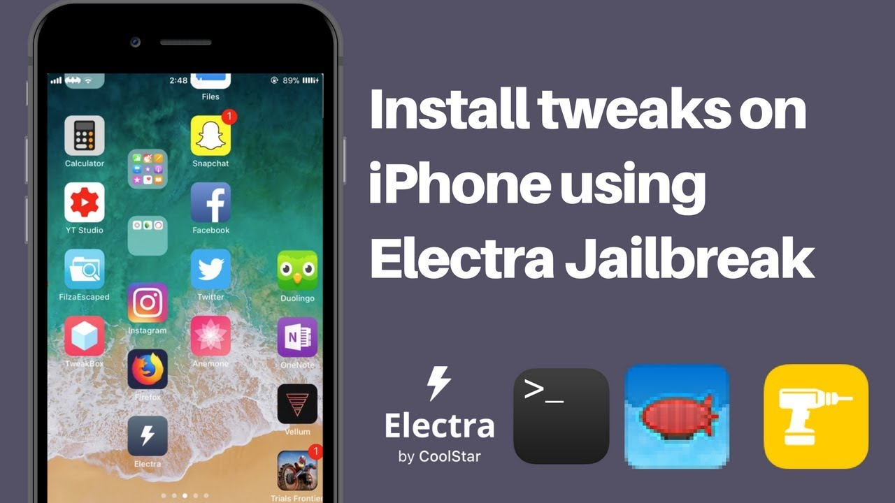 Jailbreak iOS 11 and Install Tweaks using Electra Jailbreak -  (iPhone,iPad,iPod - No PC required)