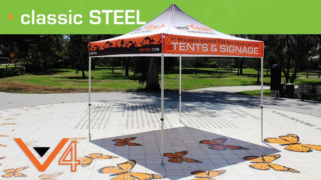 V4 Steel Heavy Duty Pop Up Tent. Instent Industries & V4 Steel Heavy Duty Pop Up Tent - YouTube