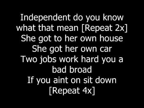 Indepentdent  Webbie ft Lil Bossie lyrics