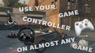 How to use steering wheel as Xbox controller on almost any game in Windows with x360ce