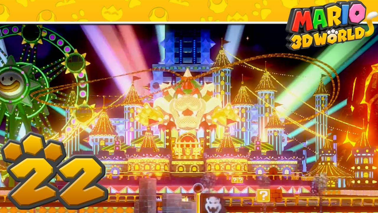 super mario 3d world part 22 bowsers carnival youtube