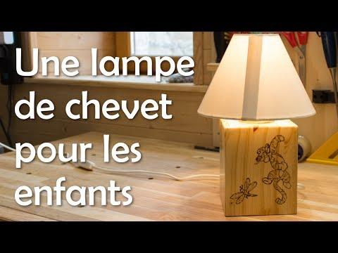 Lampe Menuiserie Youtube De Pour – Travail Chevet Bois Enfants Du j45ARL