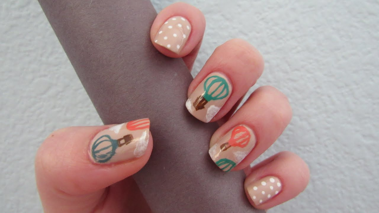 Hot air balloon nail art design thegypsybox youtube hot air balloon nail art design thegypsybox prinsesfo Choice Image