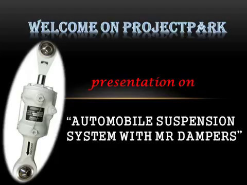 Automobile Suspension System With Mr Damper