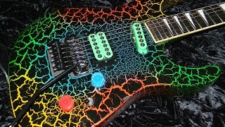 Custom Bodied Jackson Guitar image link to Mp4 Backing track video