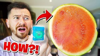How To Cut A Watermelon With Dental Floss!! *TOP 5 BAR TRICK BETS YOU WILL ALWAYS WIN*