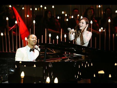 John Legend & Jane Zhang - All of Me (2nd Day Version)(張靚穎成都音樂會)(DV by 小小)