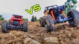 HB Rock Crawler Vs Big Foot Monster Truck - 4x4 Vs 4x4