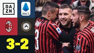 Hernandez-Hammer & Retter-Rebic lassen Milan spät jubeln: AC Mailand - Udinese 3:2 | Serie A | DAZN