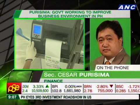 Sec. Cesar Purisima on PH credit rating upgrade from S&P