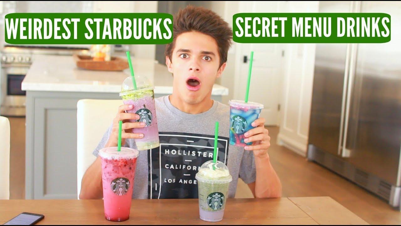 Tasting The Weirdest Starbucks Secret Menu Drinks Brent Rivera