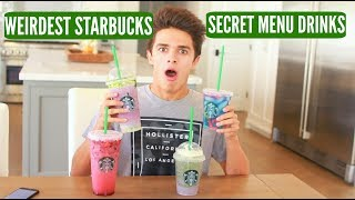 Tasting the WEIRDEST Starbucks' SECRET MENU DRINKS!! | Brent Rivera