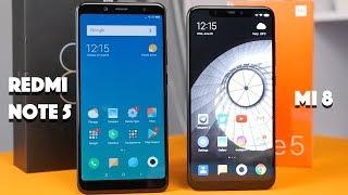 Xiaomi Mi 8 против Redmi Note 5: а надо ли переплачивать?