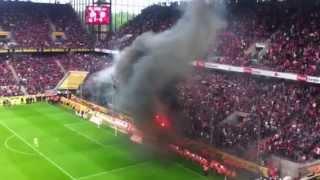 FC Köln - Bayern 1:4 RANDALE, RAUCHBOMBEN & PLATZSTURM! LIVE