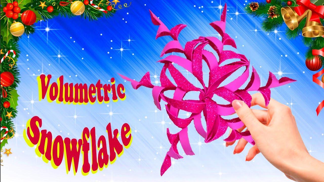 How to make a voluminous snowflake / handmade