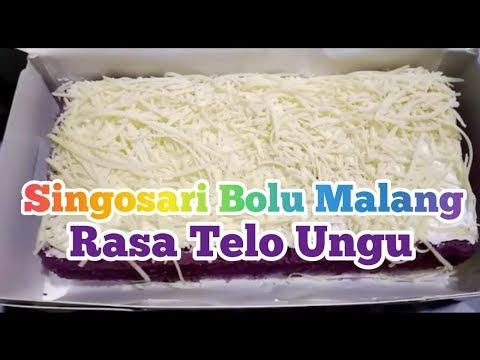 #97 Review Singosari Bolu Malang Rasa Telo Ungu   Oleh-oleh Khas Malang   Kuliner Malang