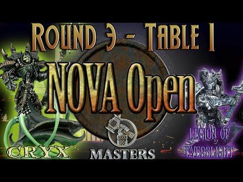 NoVA Open 2015 Masters Round 3 - Table 1 - Cryx (E-Asphyxious) vs. Legion of Everblight (Kallus)