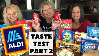 Aldi vs National Brand Taste Test Part 2