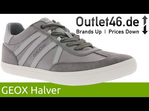 official photos e8130 00060 GEOX Halver Sneaker Hellgrau l Atmungsaktiv & Wasserdicht l 360° Video l  Outlet46.de - YouTube