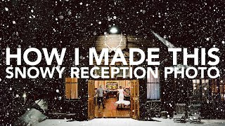 How I Made This | Snowy Reception Photo