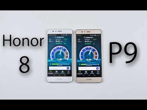 Huawei Honor 8 vs Huawei P9 - Speed & Battery Test Comparison Review! (Kirin 950 vs Kirin 955)