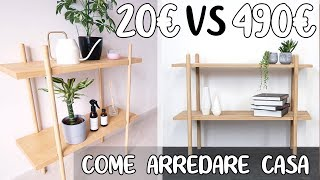Come ARREDARE CASA con 20€ vs 490€ - ARREDAMENTO COSTOSO vs ECONOMICO DIY Mobile Ingresso