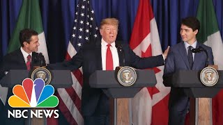 President Donald Trump Signs USMCA Trade Deal With Mexico, Canada To Replace NAFTA | NBC News