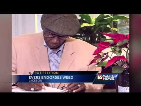 Charles Evers signs weed petition