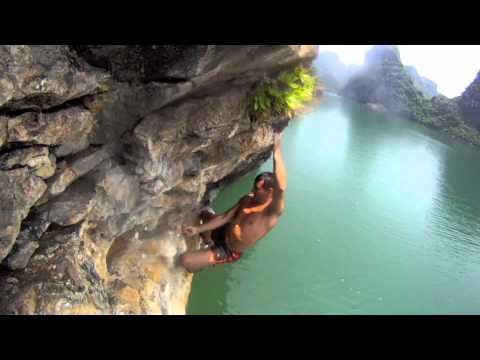 Halong Bay Deep Water Soloing (Rock Climbing)
