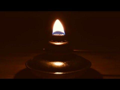 Burning Oil Lamp with Medium Flame (Full HD)