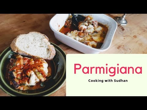 Aubergine Parmigiana With Courgette - Cooking With Sudhan