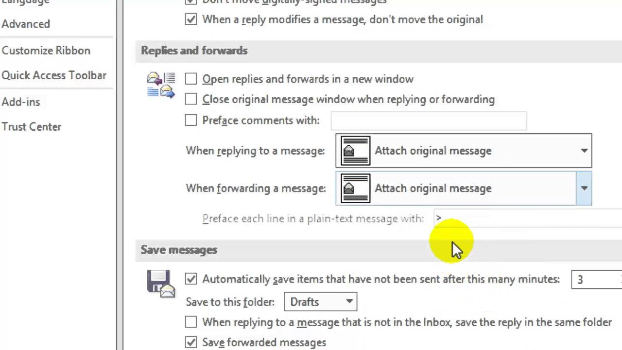 How to keep attachment when replying in Outlook