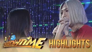 It's Showtime Miss Q & A: Vice holds Jackque's hand