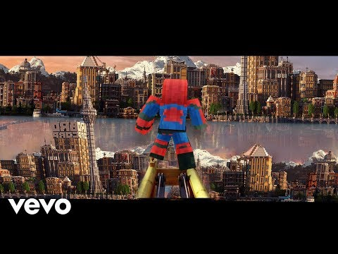 Sunflower minecraft music video - post malone, swae lee spider-man into the spider-verse