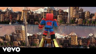 """Sunflower"" Minecraft Music Video - Post Malone, Swae Lee Spider-Man Into the Spider-Verse"