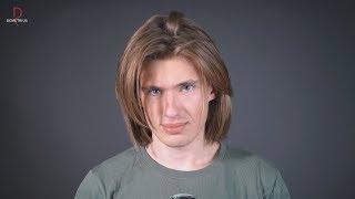 DEMETRIUS | Мужская стрижка Гранж, волосы средней длины, мужская прическа 2019, укладка, hair men