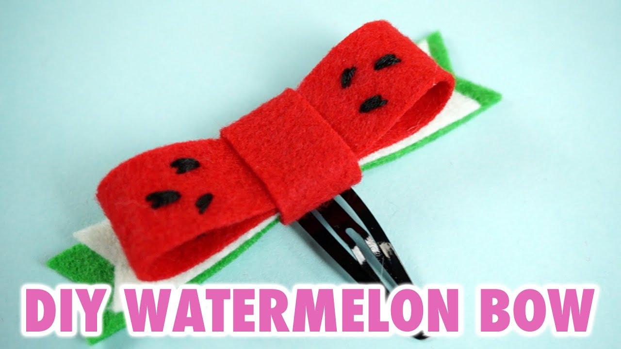 diy watermelon hair bow